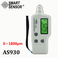 AS930 Film Coating Thickness Gauge Measuring Range 0 1800um Iron Based Magnetic Zinc Coating Paint Digital