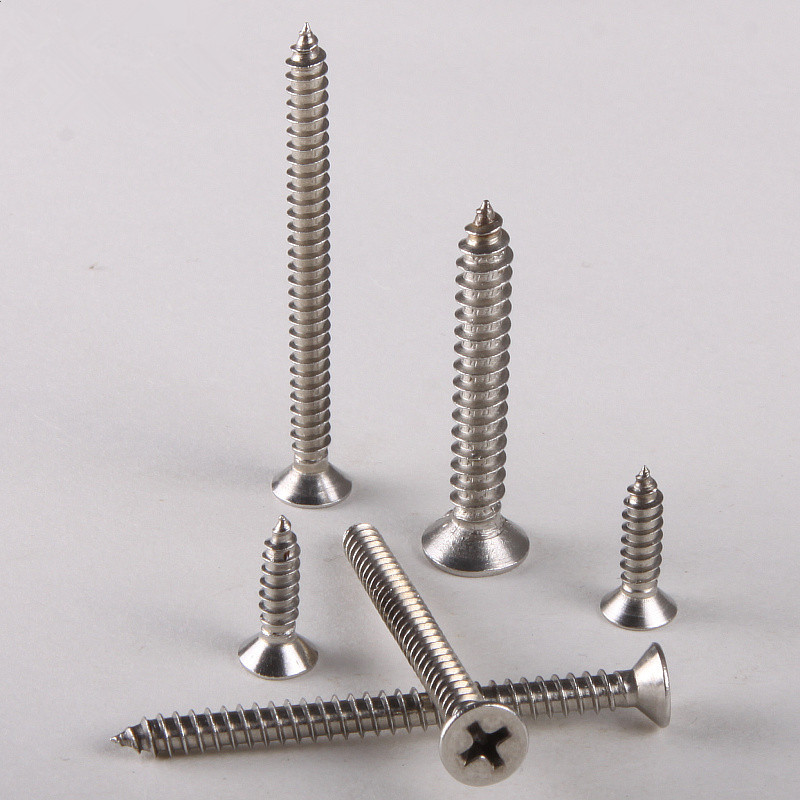 40PCS 304 Stainless Steel Countersunk Head Tapping Screws Countersunk Head Self-tapping Screw M3.5 * 20 GB846 10pcs m6 16mm m6 16mm 316 ss stainless steel mushroom head sttp screw self tapping screw truss phil screws
