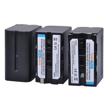 3Pcs PowerTrust 7200mAh NP-F960 NP-F970 Battery NP F970 NP F960 Camcorder batteries for Sony NP-F550 F770 F750 F960 F970 фото