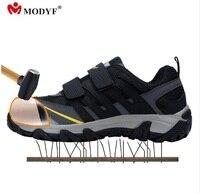 Modyf Gratis verzending Modyf mannen Stalen Neus Veiligheid werkschoenen outdoor lassen job laarzen punctie proof footwear fashion schoenen