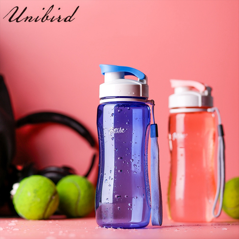 Unibird 500ml Plastic Sports Water Bottle Leak-Proof Fitness Protein Shaker for Camping Travel BPA Free Bicycle Drink Bottle