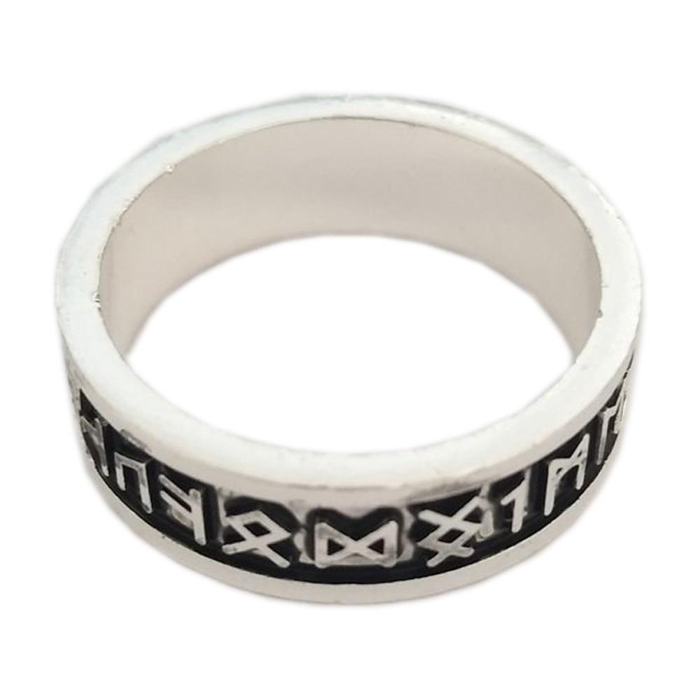 Viking Rings Man's Custom Rune Letter Ring Wedding Anel Nordic Vintage Men  Jewelry(china (