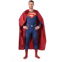 High Quality Men S Superman Cosplay Costumes Adults Spandex Zentai Male Suits Halloween Men Super Hero