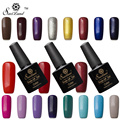 Saviland 1pcs Color UV Gel Soak Off  Colorful Shining Colorful Gel Nail Polish Curing UV/LED Lamp Top and Base Coat