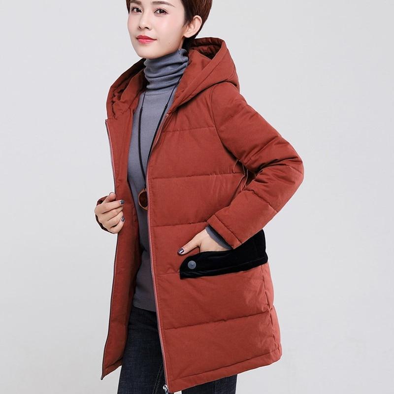 Nouveau Tissu Lady 2018 4xl Femmes Mode Green Taille Parka Chaud Capuche Plus La red Hiver Long Survêtement Femelle À Coton Manteau Pardessus Épais d6wqw5py