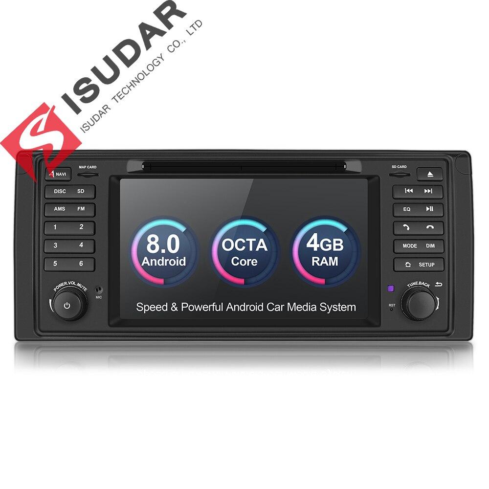 Isudar Автомобилая Штатная навигация Автомагнитола мультимедиа на android 8.0 1 Din с Сенсорным 7 Дюймовым Экраном для автомобилей BMW/E46/M3/MG/ZT/Rover 75 4 Ядр...