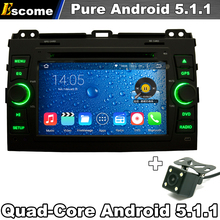 Quad Core Pure Android 5.1 Car DVD For Toyota Prado Land Cruiser 120 2002-2009 With Radio BT GPS Navigation Rear View Camera