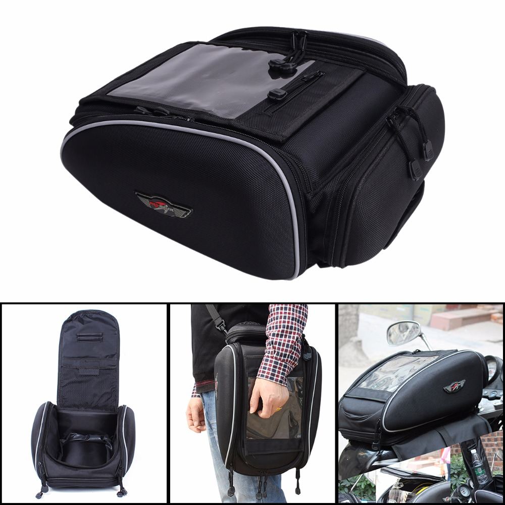 ФОТО High Quality Motorcycle Fashion Oil Fuel Tank Bag Saddle Bags Motorbike Racing Tail Bags package For YAMAHA Harley C/5