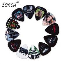 SOACH 10 шт., 3 вида толщины, новые медиаторы для бас-гитары, популярные панк-группы SUM 41 фотографии, высокое качество, принт, аксессуары для гитары