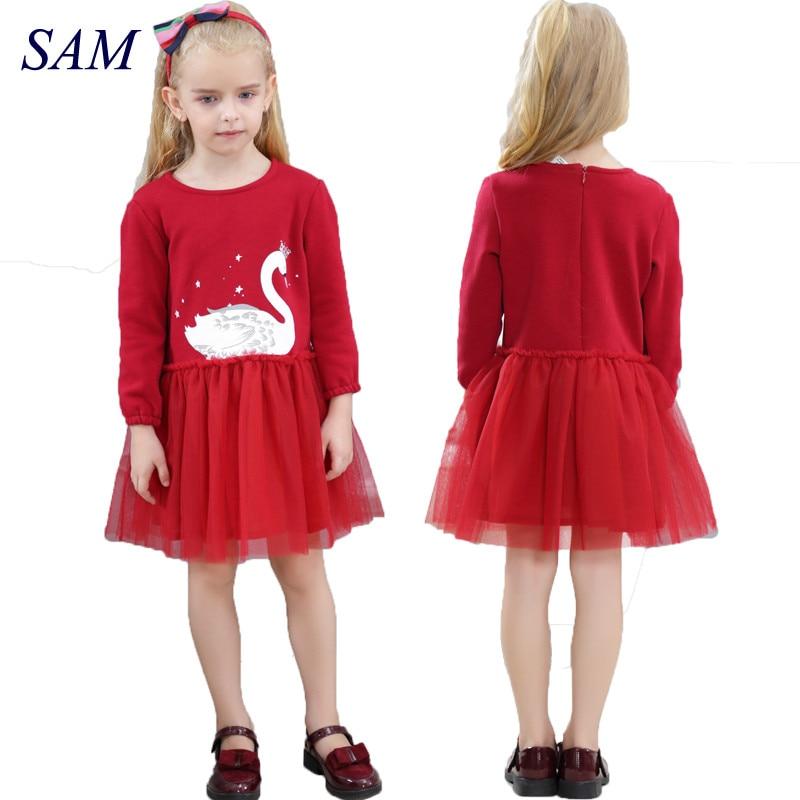 2019 الفتيات عارضة الشتاء اللباس - ملابس الأطفال