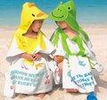 Com capuz roupão de banho toalha de bebê com desenhos animados Terry toalha de banho toalha de banho do bebê com capuz