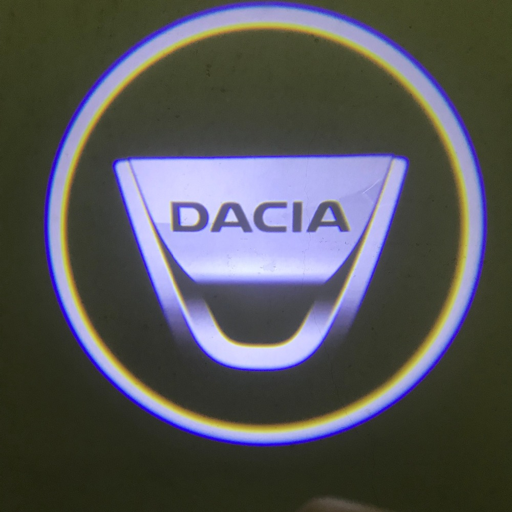 2pcs For DACIA LED Car Door Welcome Light Logo Projector For Dacia Duster Logan 2 Mcv Sandero Stepway