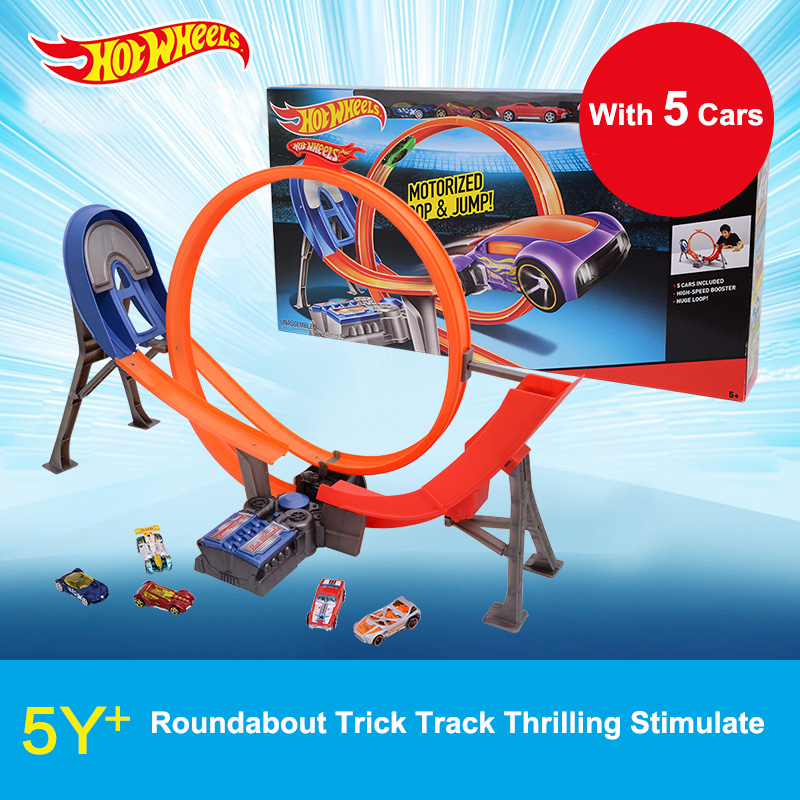 Popular Toys Spirited Hot Wheels Electric Convolution Trick Raceway Pack Y3105 Cars Toy Boys Birthday Present Educational Toy Gift With 5 Small Cars Always Buy Good