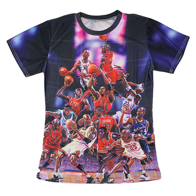 ab4fd7355575b9 Super Star 3D Printed T-shirts Fashion MJ Jordan Graphic Tees Human Pyramid  Pattern Summer Tops Casual Short Sleeve Shirts