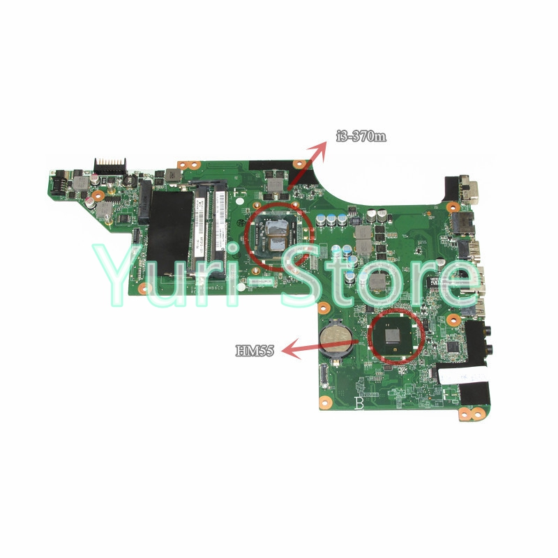 NOKOTION for HP pavilion dv6 dv6-3000 laptop motherboard DALX6HMB6C0 637212-001 i3-370m CPU hm55 gma hd DDR3 nokotion 578377 001 laptop main board for hp pavilion dv6 dv6 1000 notebook motherboard gm45 ddr3 free cpu