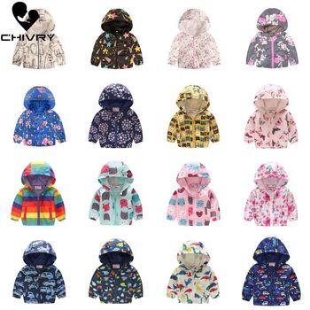 2019 Kids Clothes Boys Jackets Children Hooded Zipper Windbreaker Baby Fashion Print Coat Infant Waterproof Hoodies For Girls 1