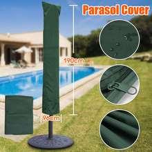 Polietilen Bahçe Veranda Şemsiye Şemsiye Kapak Çantası Yeşil Fit 7ft Şemsiye + Beraberlik Dize Boyun 190x96 cm