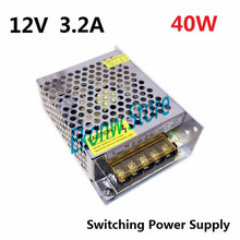 40W 12V 3A Switching Power Supply Factory Outlet SMPS Driver AC110-220V to DC12V Transformer for LED Strip Light Module Display