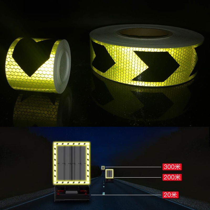 Купить с кэшбэком 5cmx30m Car Reflective Material Tape Sticker Automobile Motorcycles Safety Warning Tape Reflective Film Car Stickers