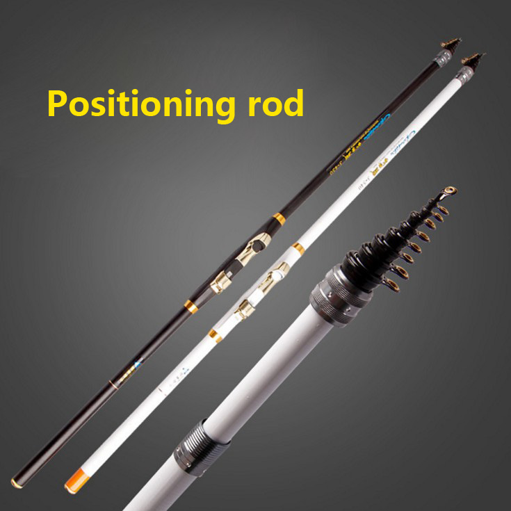 Fishing rod carbon 4.5/5.4/6.3 meter Positioning rod set fishing rod white/black rock rod with 6 ball bearing spinning reel
