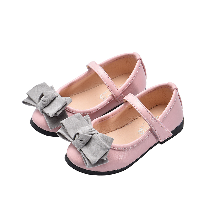 Fancy Girl Children Toddler Kid Shoes Princess Girls Shoes Bow Flat Dress Party