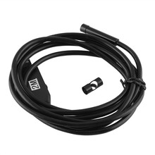 Waterproof 2M Endoscope 7mm Lens Inspection Pipe 6 LED USB Borescope Tube Snake Camera For PC Computer