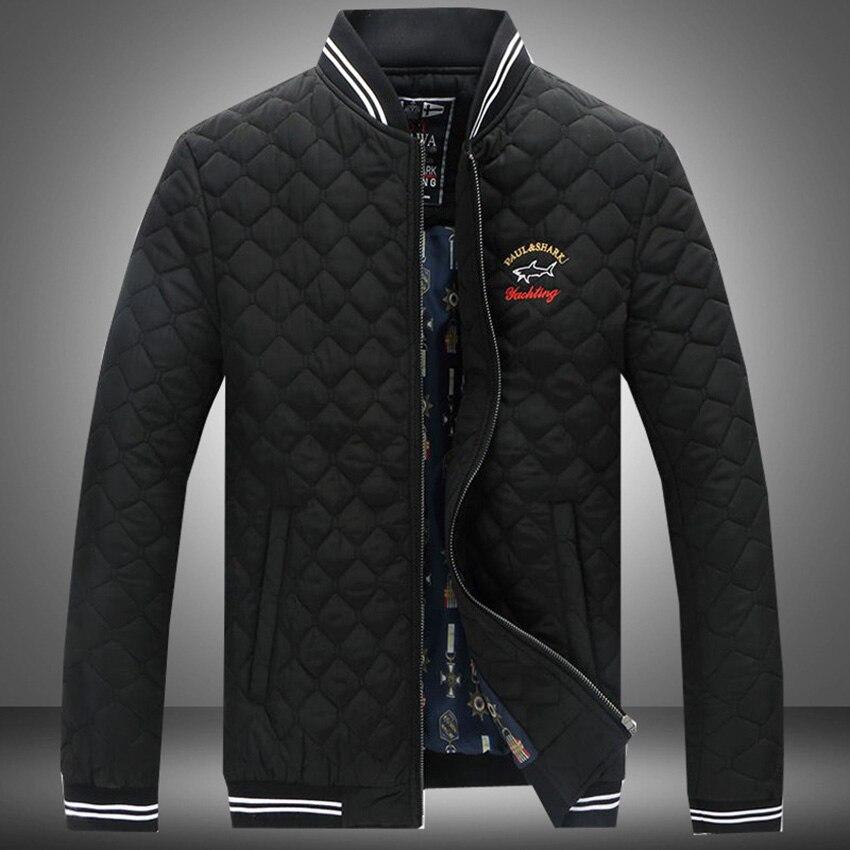2017 New Hot Sale Fashion Men's Cotton Jacket Black/Blue/Red Slim Fit Jacket C185