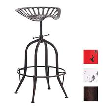Chair Antique Vintage Industrial Ancient Design Metal Adjustable Height Saddle Tractor Bar Stool