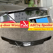 W205 4-doors Tail Spoiler Wing FRP Unpainted C74 Style Fits For MercedesMB C-Class C180 C230 C250 C63 Rear Trunk Spioler 2015-18