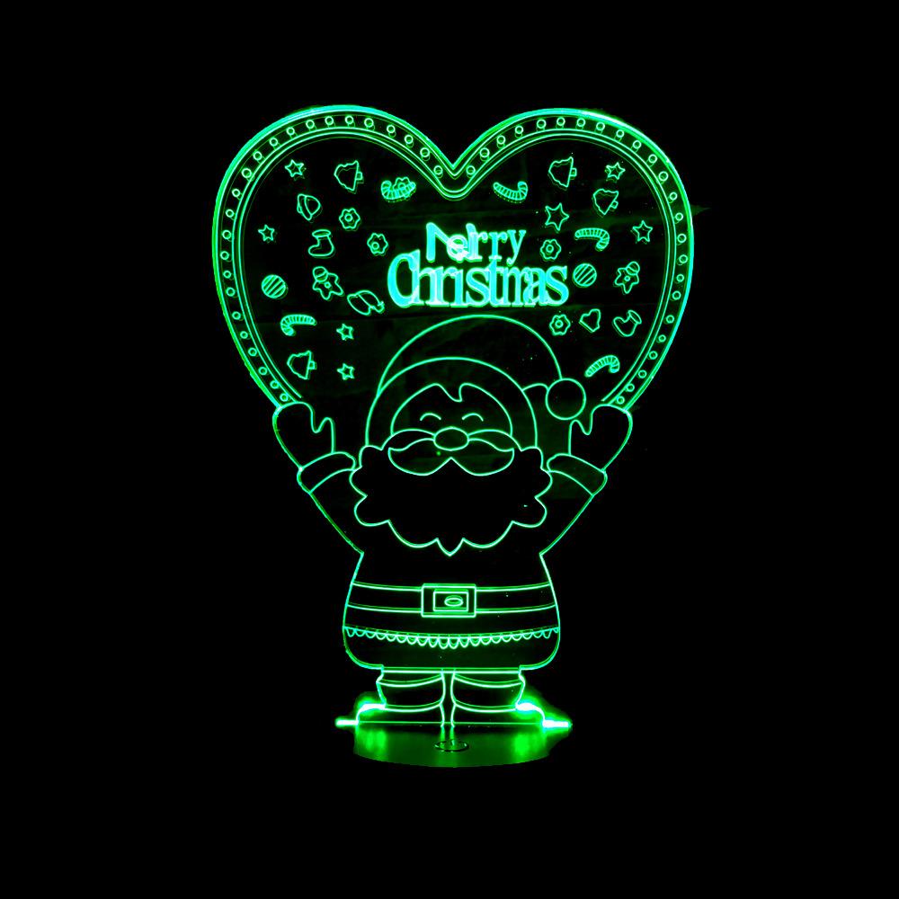 New Santa 3d Nightlight Christmas Gift Led Lamp Creative Gift Nightlight Luminaria De Mesa Usb Led 3d Light Fixtures