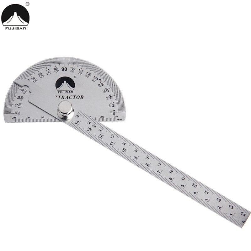FUJISAN Regla de ángulo de 0-180 grados Prolongador rotativo de - Instrumentos de medición - foto 2
