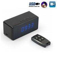 T7 Clock Camera Alarm Setting Full HD 1080P Mini Camera Espia Night Vision Table Clock Camera Small Cam With Remote Controller