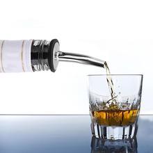 1 шт. нержавеющая сталь коктейльное вино оливковое масло Pourer Диспенсер со стеклянным носиком бутылка Pour диспенсер принадлежности для винного бара
