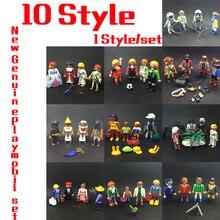 10 Style 7.5 cm Playmobil Enfants Poney de Ferme et Chariot tiré par des Chevaux Prendre Le Long Moderne Maison de Poupée Enfants cadeau Jouets