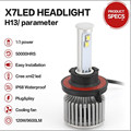 80W 9600LM 9004 9007 H4 H13 All-in-One Car Headlight Conversion Kit 9005/9006/H1/H3//H7/H11 Super Bright 6000K Headlamp Lights