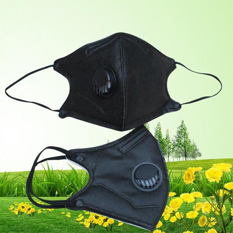 Image 2 - 10 sztuk/partia PM2.5 usta maska Anti Dust Breath zawór maski Anti Haze jednorazowe maski maski ochronne do ochrony twarzy GKZ008Maski   -