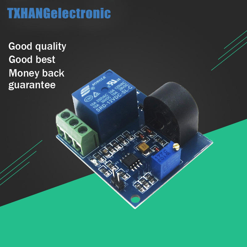 5A Overcurrent Protection Sensor Relay Module Current Detection Board  5/12/24V Relay