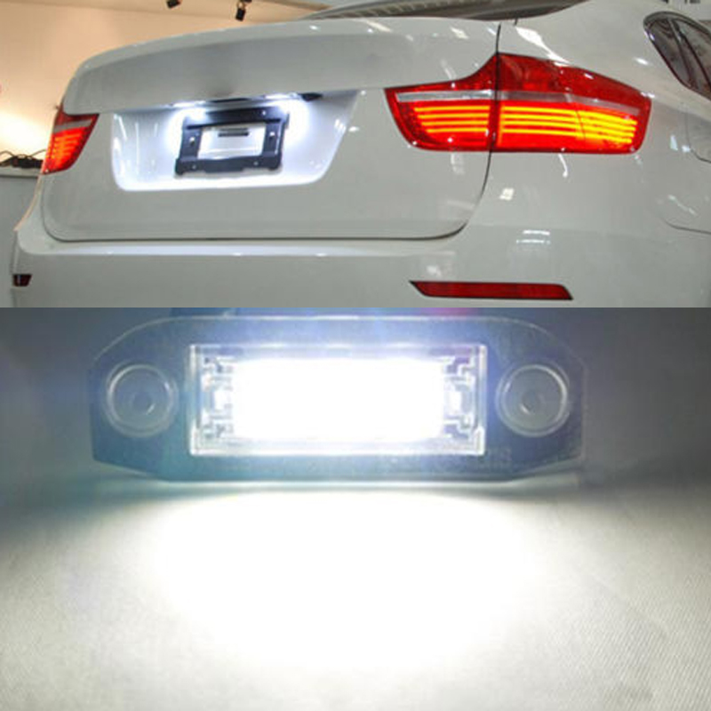 Car styling for Volvo LED License plate light canbus NO error For Volvo C30 S40 V50 S60 S80 V70 CX60 CX70 CX90