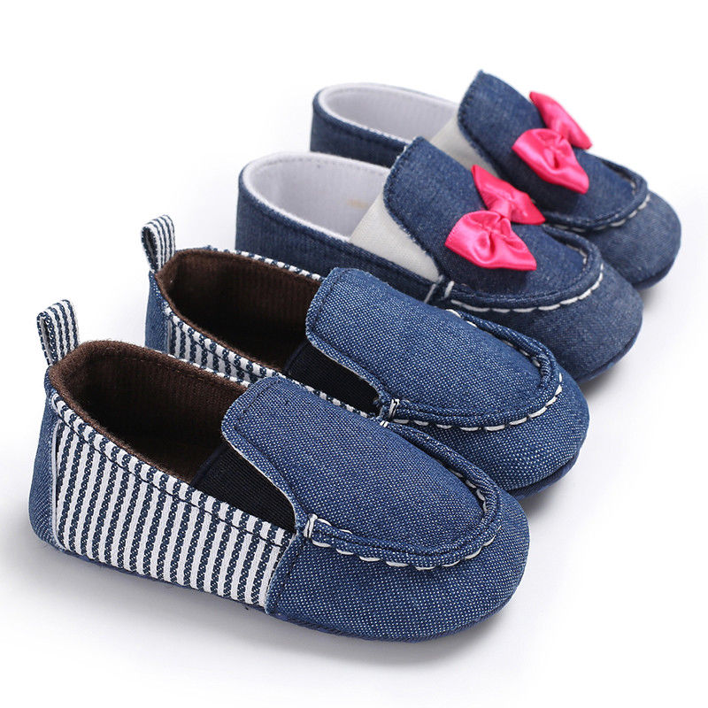 0-18M Baby Boys Girls Prewalker Shoes Newborn Soft Sole First Walker Shoes