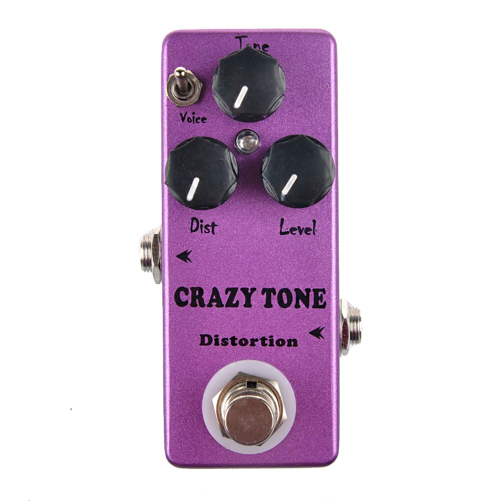 Mosky Distortion Mini Single CRAZY TONE Electric Guitar Effect Pedal with True Bypass Two Mode Voice Choose Dist/ Level/ Tone aroma aos 3 octpus polyphonic octave electric guitar effect pedal mini single effect with true bypass