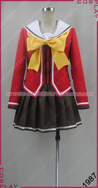Anime Costumes Charlotte Tomori Nao Yusa Nishimori Cosplay Costume Custom Any Size 1987 Clear-Cut Texture Costumes & Accessories