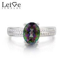 Украшения leige кольцо с мистическим топазом Радуга Топаз кольцо предложение кольцо из розового золота с изящным кристаллом переливающийся д