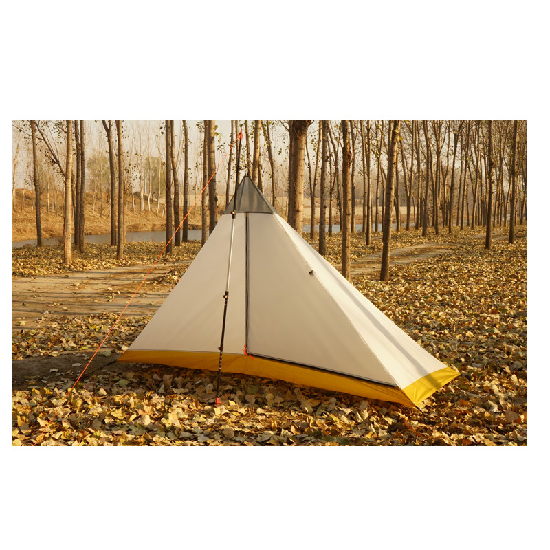 FLAME'S CREED Ultralight 1-2 Person silicon coating inner tent summer outdoor 4 seasons camping tent Rodless Pyramid Large Tent чехол д гладильной доски ева 125х47см х б