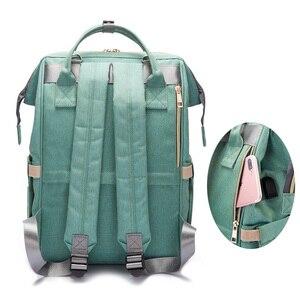 Image 5 - USB 인터페이스와 패션 출산 기저귀 가방 대용량 방수 기저귀 가방 키트 배낭 출산 간호 아기 가방