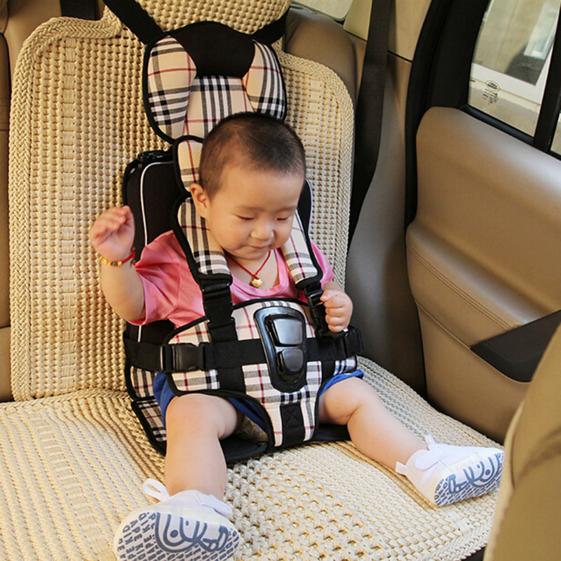 1 5 years portable baby car booster child safety seat cushion auto children resistraint travel safe 5 point harness in automobiles seat covers from