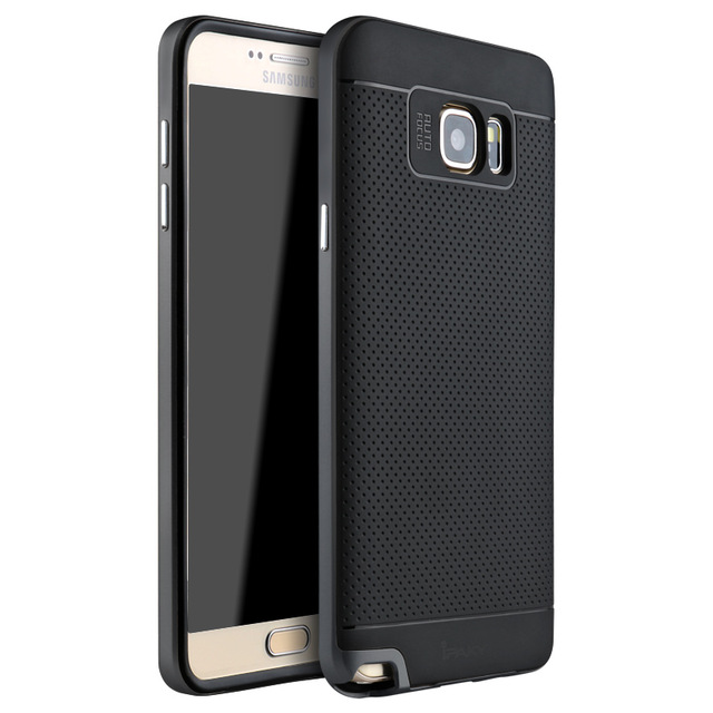 iPaky Brand Quality Dual Layered Case for Samsung Galaxy Note 5 Luxury Silicone Back Protective Cover Shell for Samsung Note5
