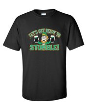 Online T Shirts Store Men'S Let'S Get Ready To Stumble Irish St Patricks Day Crew Neck Funny Short Sleeve T Shirt