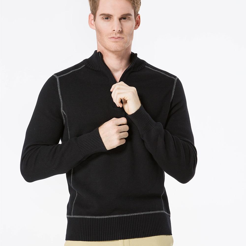 Aismz Men Sweater Pullovers 100% ბამბა 2017 ახალი - კაცის ტანსაცმელი - ფოტო 6
