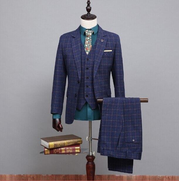 Jacke + Pants + Weste Fabriken Und Minen Nach Maß 100% Echt Bild Qualität Bräutigam Smoking Für Bestmen Bräutigam/hochzeit/prom/dinner Suit