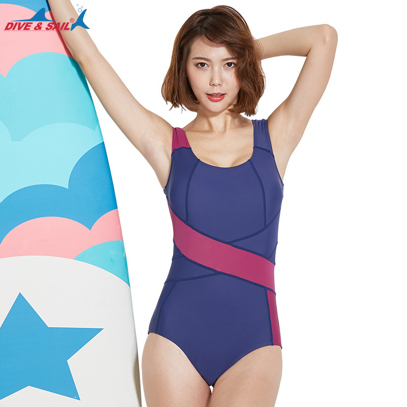 DIVE&SAIL New Sexy One Piece Swimsuit Women Professional Push Up Swimwear Sports Bathing Suit Swim Bodysuit Plus Size Monokini J цена и фото